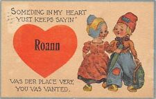 """""""Something in my Heart Keeps Saying"""" Roann Indiana~Is Where You're Wanted~1914"""