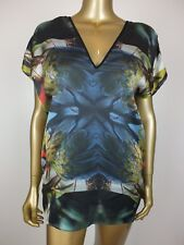 WAYNE COOPER TROPICAL PARROT PRINT TOP TUNIC SHIRT BLOUSE KAFTAN - 8 -
