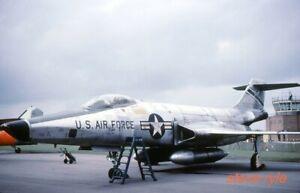 MILITARY AIRCRAFT SLIDE - RF-101C VOODOO USAF 56-0128 - 1962 - DUPLICATE