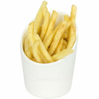 Chips Serving Cup 11cm Round White Porcelain Sunnex French Fries Food Bowl Dish