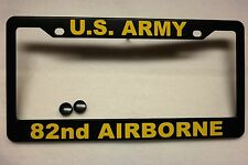 Military License Plate FRAME, U.S. ARMY/82nd. Airborne, Polished ABS-#841001Y