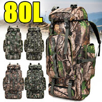80L Outdoor Military Rucksack Tactical Backpack Hiking Camping Sport Travel bag