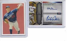 2011 BOWMAN STERLING MARCUS STROMAN WEISS DUAL AUTO GOLD REF # 33/50 1 CARD ONLY