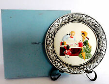 "Sebastian Miniature Pewter Edge Plate ""The Candy Store"" Plate number 5719 Nib"