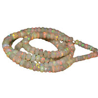 1 Strand Top Quality Natural Ethiopian Welo Fire Opal Faceted Beads DDL363