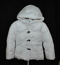 Girls CHIC White Hooded Puffer Lined Winter Outerwear Snow  Jacket XS