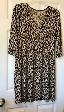 """chicos size 2 dress, Brown Beige, Poly-spandex, 39"""" Long, Chest 21""""."""