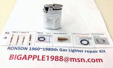 Ronson 1960~1980th Vintage Gas Lighter repair Kit R1-B Free Youtube DIY Video 12