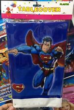 ♛ Shop8 : 1 pc SUPERMAN PLASTIC TABLE COVER Themed Birthday Party Decor