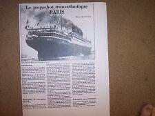 PARIS oceanline ship model plan