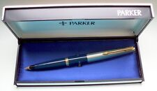 "PARKER "" 45 "" STANDARD DE LUXE ; in BLUE/STEEL/GOLD 14Kt NIB ! MADE IN U.S.A. !"