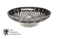 "Elegant Heavy Cut Crystal 12"" Serving Bowl Centerpiece Display Glass Dish"