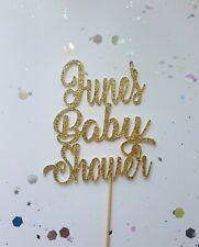 Baby Shower Glitter Personalised Cake Topper
