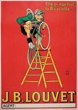 Original Vintage Poster J.B. Louvet Bicyclette by Mich c1930 French Bicycle