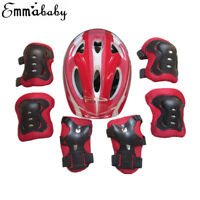 Kids Safety Helmet & Knee & Elbow Pad 1 Set For Cycling Skate Bike For 5-15 Year