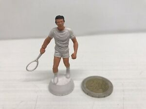 Rare Figurine Old Plastic Starlux Player Tennis - Brown
