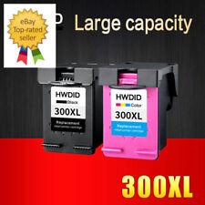 2 Pcs Ink Cartridge 300 300XL Black Tricolor for HP Printers Deskjet D1660...