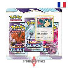 Pokémon - Tri Pack 3 boosters EB06 Épée et Bouclier Règne de Glace: Ronflex