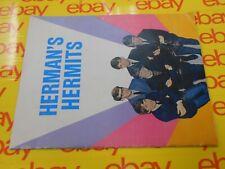 Herman's Hermits - 1965 Original Souvenir Concert Program w/ Ticket Stubs