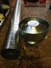 Commercial Canopy exhaust system / ducting / fan motor 15inch
