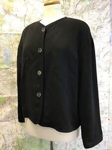 Vintage 1980's Jean Muir London Harrods Knightsbridge Black Jacket UK 14