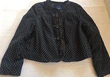 GAP kids Brown Corduroy Polka Dot lined jacket/blazer size XS (4-5)