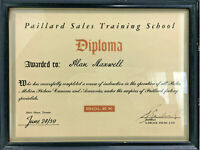 1959 BOLEX PAILLARD SALES TRAINING DIPLOMA CERTIFICATE GARLICK FILMS LTD FRAMED