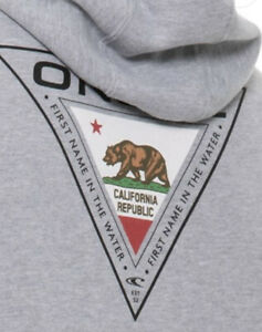 O'Neill Wetsuits Surf California Bear Flag Mens Gray Hoodie Pullover - M