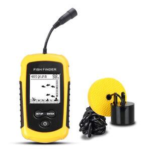 100M Fish Finder Fishfinder Depth Echo Sonar Sensor Alarm Fishing Transducer LCD