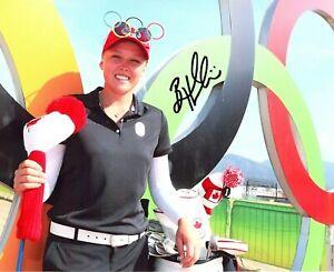 Brooke Henderson LPGA star signed autographed 8x10 golf photo Canada Olympics