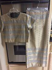 Silk wrap shirt and top - full length skirt. made from silk,