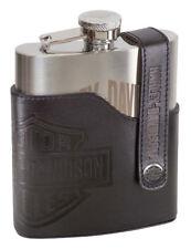 Harley Davidson Bar & Shield  Stainless Steel Hip Flask Birthday Gift