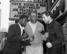 GEORGE CHUVALO JOE FRAZIER JOE LOUIS 8X10 PHOTO BOXING PICTURE