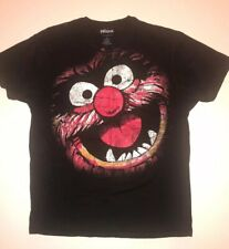 The Muppets Animal T Shirt Mens Face Paint Graphic Black Size Large.