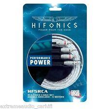 Alta Calidad cinch-stereokabel Doble Blindado Hifonics hf5-rca Cable RCA 5m
