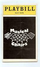 VINTAGE  PLAYBILL 1980, MUSICAL CHAIRS, RIALTO THEATER