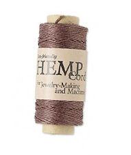 100ft Roll Dark Brown Natural Hemp Cord .5MM