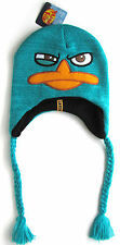 Disney Phineas And Ferb PERRY Peruvian BEANIE Cap Embroidered Hat NWT New