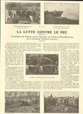 40 YCHOUX  LA LUTTE CONTRE LE FEU POMPIERS ARTICLE DE PRESSE MAIRE 1930