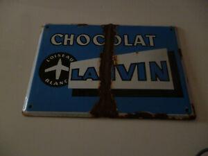 plaque emaillé chocolat lanvin emaillerie alsacienne