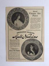 Anheuser-Busch's Malt-Nutrine Advertisement For Metal Vienna Art Plates 1905