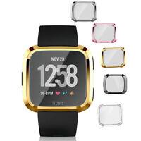 Smartwatch Funda TPU Carcasa Pantalla Completo Protector Marco para Fitbit Versa