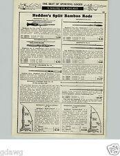 1929 PAPER AD Heddon Montague Split Bamboo Fly Fishing Rod Fishkill Expert Flip