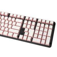 RGB 108 Keycaps ANSI Layout Add ISO PBT Pink Pudding Shot Backlit Keycap