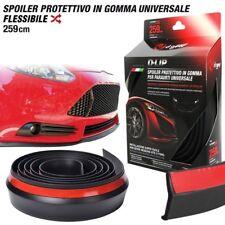 SPOILER Universale Gomma PROTEZIONE PARAURTI NERO Carrozzeria AUTO D-Gear D-LIP