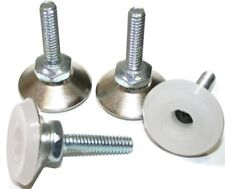 "LOT OF 4 SUPERIOR 1 1/8"" DIAMETER NYLON  1/4"" x 1"" LEVELING NICKEL GLIDES GD7433"