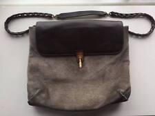 Authentic Lanvin Limited Edition Suede Leather Medium Shoulder Bag