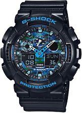 Casio G-shock Men Digital Analog Black Rubber Watch 50mm GA100CB-1A