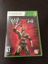 WWE 2K14 (Microsoft Xbox 360, 2013) GAME DISC AND CASE