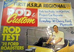 Rod & Custom August 1972 Magazine HFirst NSRA Regional '32 Ford Raodster